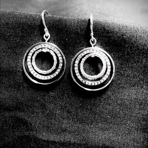 Touchstone Crystal Round and Round Earrings